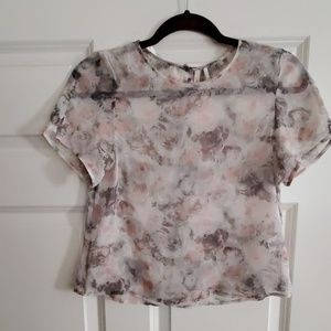 Frenchi sheer top